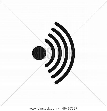 Wireless network symbol in simple style isolated on white background vector illustration