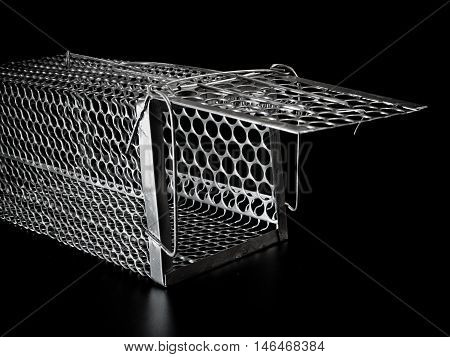 Isolated on Black of New Cage mouse trap