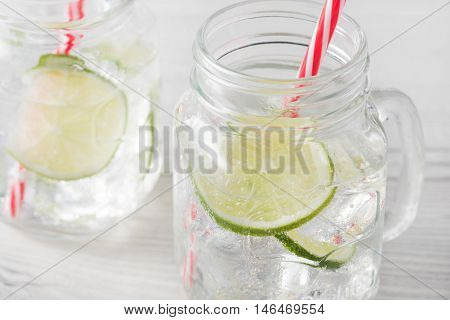 Fresh Home Made Gin Tonic Cocktails