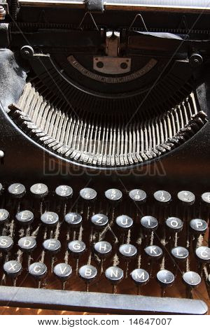 Old dusty Typewriter