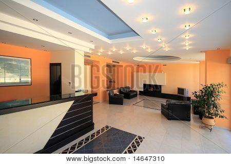 Luxury Hotel lobby reception area