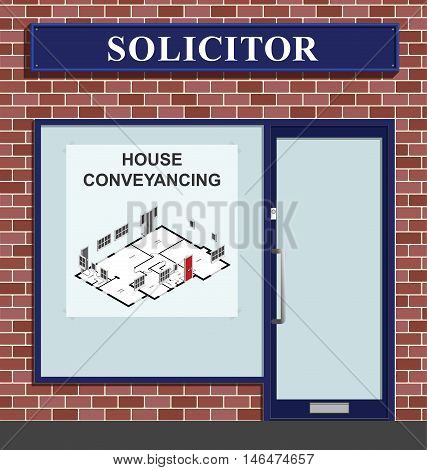 Solicitors premises advertising residential house conveyancing services