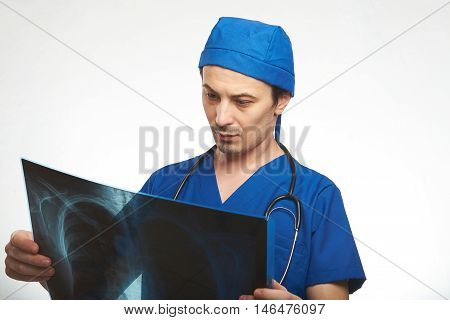 Doctor Hold X-ray Photo