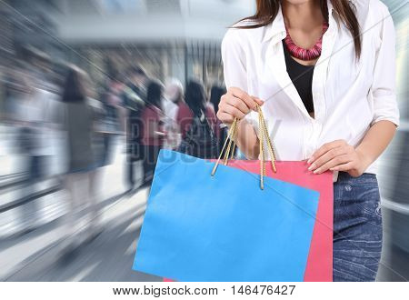 Woman Go Shopping