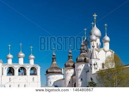 Rostov Kremlin. Belfry And Church Of The Resurrection Of Christ.