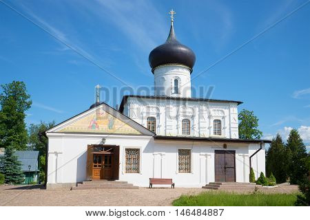Medieval church of the great martyr St. George in Staraya Russa, sunny june day. Russia