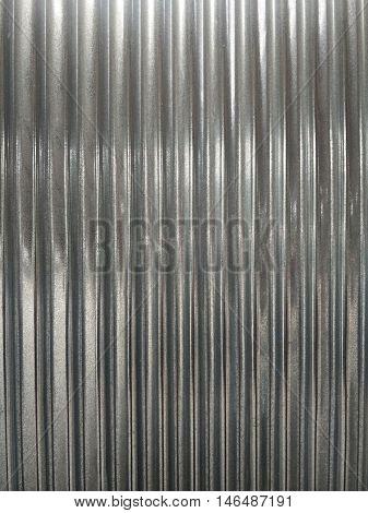 closeup shot of  shiny corrugated galvanized iron