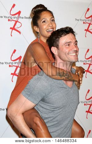 LOS ANGELES - SEP 8:  Christel Khalil, Daniel Goddard at the Young and The Resltless 11,000 Show Celebration at the CBS Television City on September 8, 2016 in Los Angeles, CA
