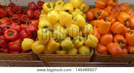 Red Yellow and Orange color Bell pepper