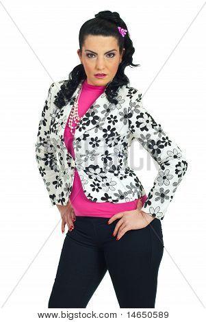 Attractive Fashion Model Woman