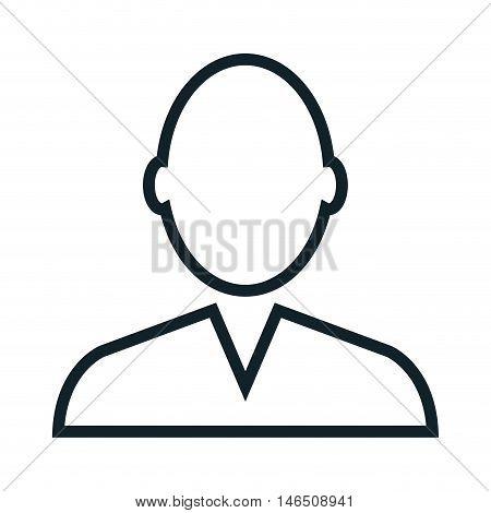 avatar man silhoutte. person male user. vector illustration