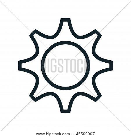 gear cog wheel power transmission mechanical. vector illustration