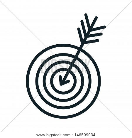 round target with arrow. strategy and objective concept. vector illustration