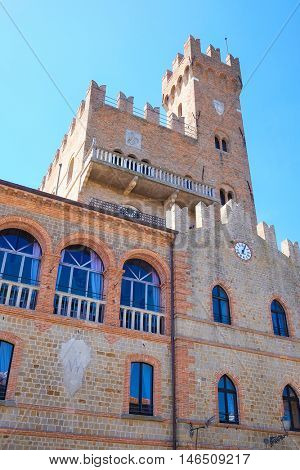 Rimini, Italy - August, 7, 2016: Castel in a central part of Rimini, resort town in Italy