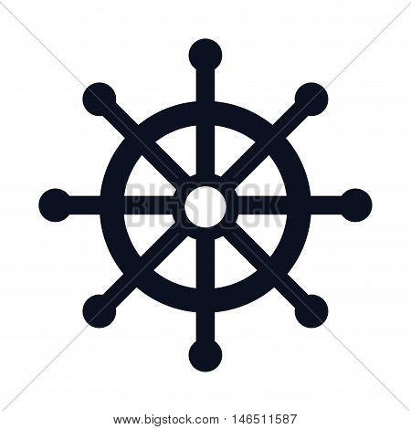 boat sail rudder. ocean nautical symbol. vector illustration