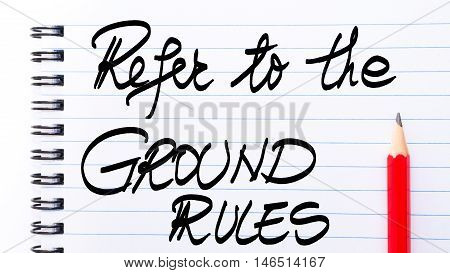Refer To The Ground Rules Written On Notebook Page