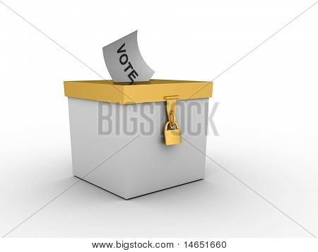 White Box With Golden Cover