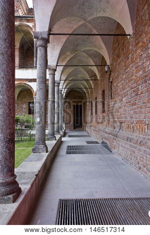 MILAN, ITALY - APRIL 14 2015: Aisle of the