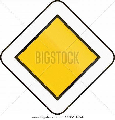 Belgian Regulatory Road Sign - Priority Road