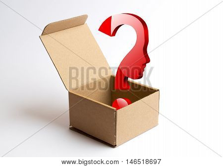 Incautious purchase question mark inside the package
