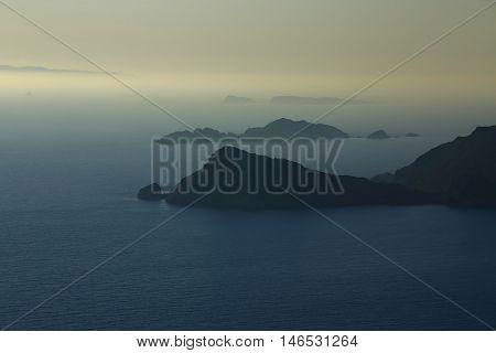 Sundown/sunrise In The Mediterranean Sea (corfu Island, Greece)