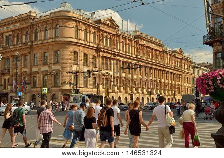 02.07.2016.Russia.Saint-Petersburg.The life and bustle of people in the big city.