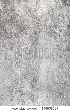 Old light gray whitish leather surface background