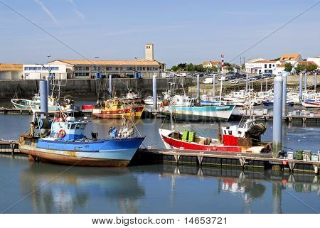 Port of La Cotiniere in France