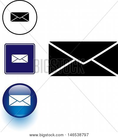 envelope symbol sign and button