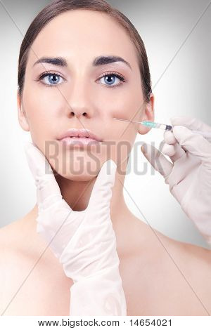 Woman Having A Collagen Or Injection