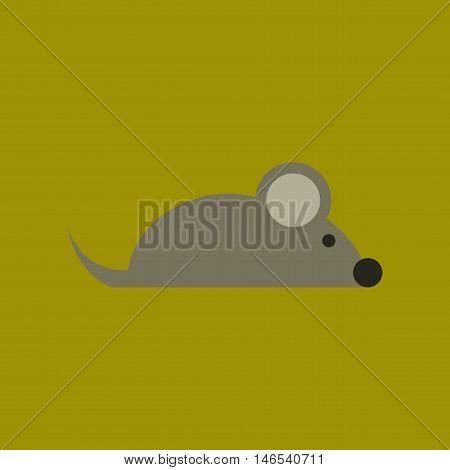 flat icon on stylish background pet mouse