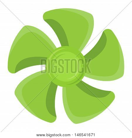 Turbine ship boat icon propeller fan rotation technology equipment. Fan blade, wind ventilator propeller ship boat fan equipment. Vector illustration propeller ship fan vector industrial ventilator