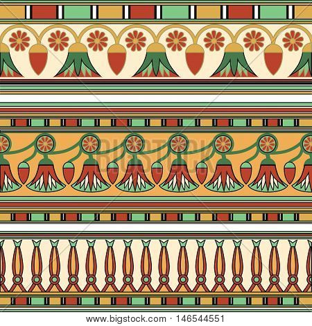 Egyptian ornament. Сollection. Egyptian background. Vector illustration