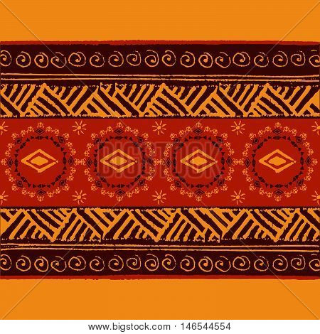 Ethnic Geometric Pattern. Ethnic background. Vector Illustration