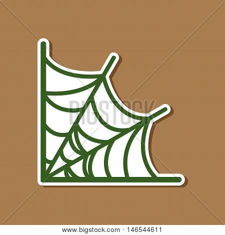 paper sticker on stylish background of spider's web