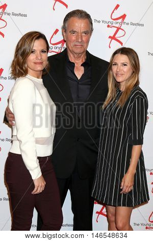 LOS ANGELES - SEP 8:  Melissa Claire Egan, Eric Braeden, Elizabeth Hendrickson at the Young and The Resltless 11,000 Show Celebration at the CBS Television City on September 8, 2016 in Los Angeles, CA
