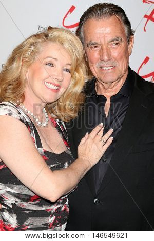LOS ANGELES - SEP 8:  Melody Thomas Scott, Eric Braeden at the Young and The Resltless 11,000 Show Celebration at the CBS Television City on September 8, 2016 in Los Angeles, CA