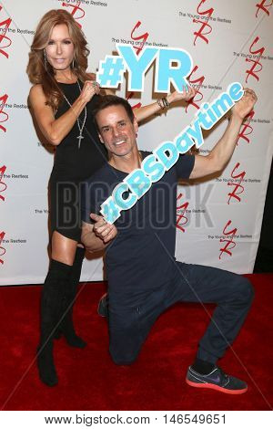LOS ANGELES - SEP 8:  Tracey Bregman, Christian LeBlanc at the Young and The Resltless 11,000 Show Celebration at the CBS Television City on September 8, 2016 in Los Angeles, CA
