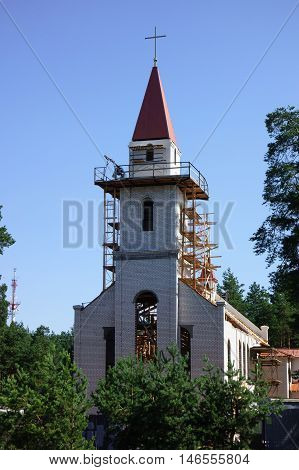 Construction Of The Church Of The Holy Spirit