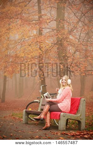 Beautiful Woman With Digital Tablet.