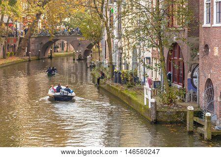 Canal Scenery Utrecht