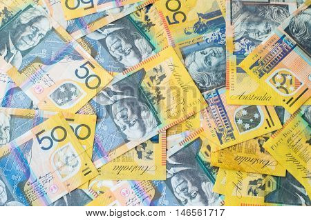 Australian Money - Aussie Dollar Currency Background