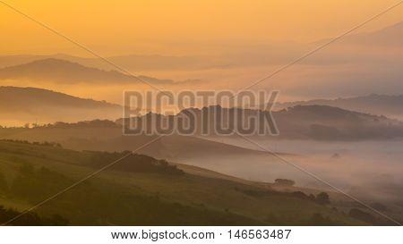 Sunrise Over Tuscan Hills
