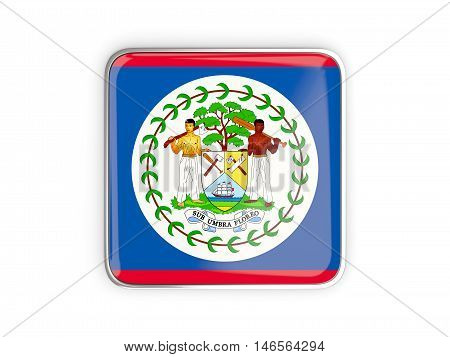 Flag Of Belize, Square Icon