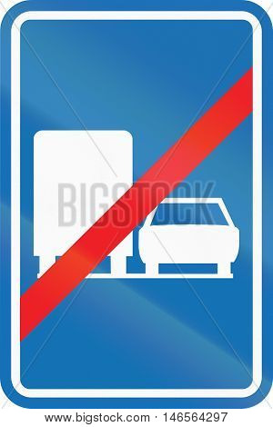 Belgian Regulatory Road Sign - Trucks Are Not Allowed To Overtake