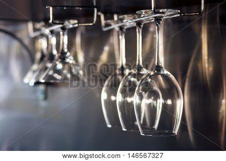 glasses for wine; wineglasses equipment for restaurant or cafe;