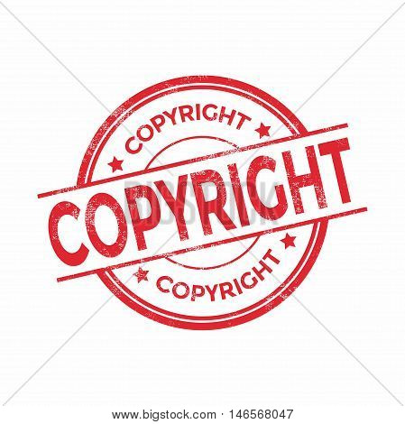 Copyright red rubber stamp isolated. vector illustration