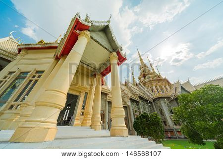 Temple Wat thai They are public domain or treasure of Buddhism