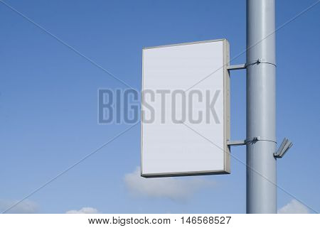 Mock up Billboards on the background of the sky.. Most realistic board for your advertisement.