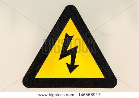 The Warning signs danger of electrocution dead.